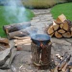 Szwedzka pochodnia. Ognisko w pniu. survival ogień jak rozpalić ognisko gotowanie bushcraft