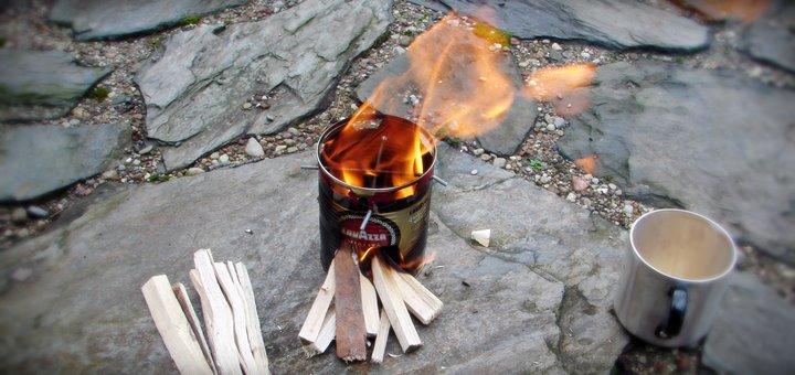 kuchenka z puszki hobo stove - Kuchenka survivalowa z puszki.