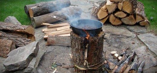 """szwedzka pochodnia film 520x245 - Film. Jak zrobić ognisko """"szwedzka pochodnia""""?"""